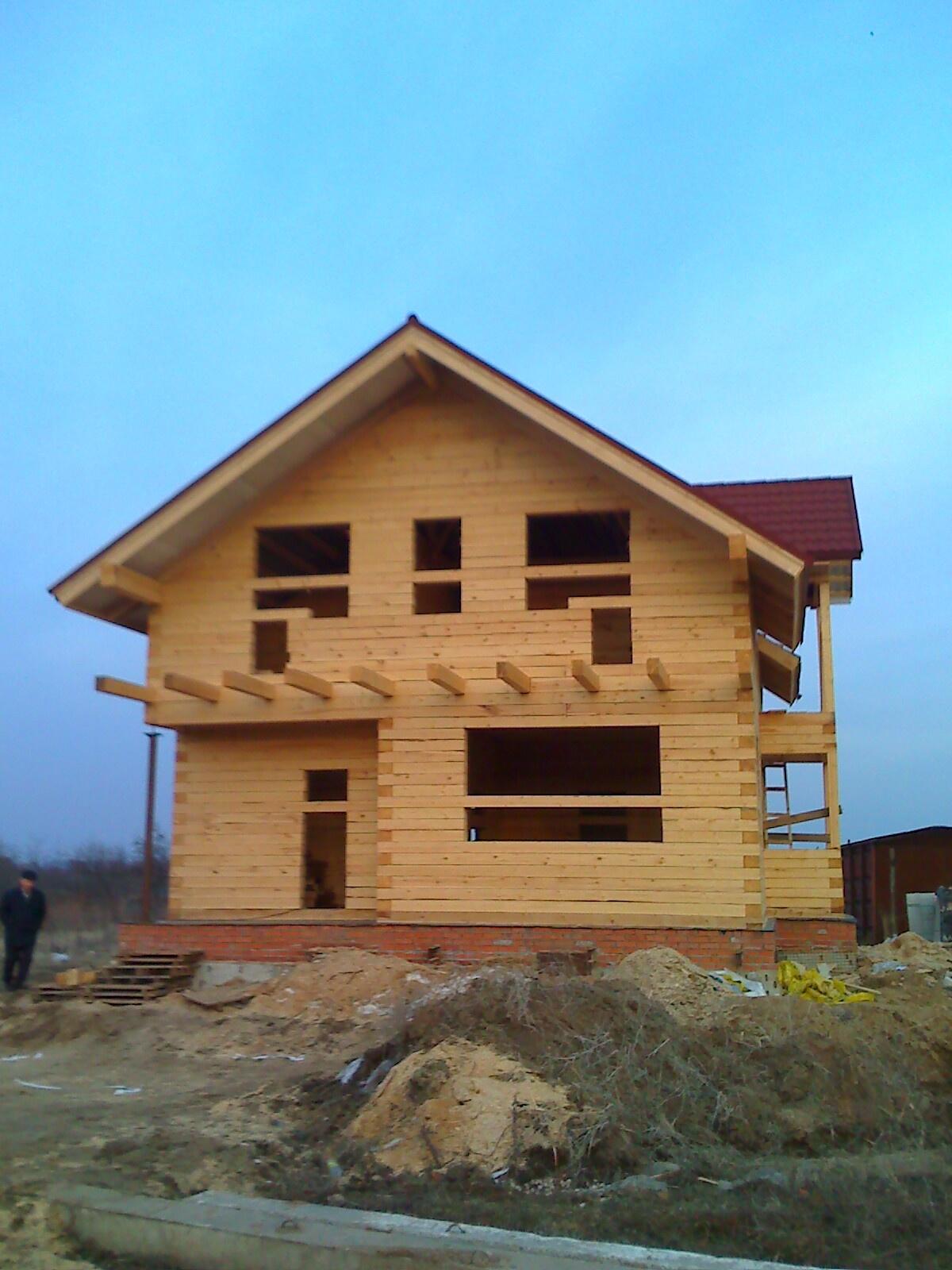 Двухэтажные дома из бруса своими руками